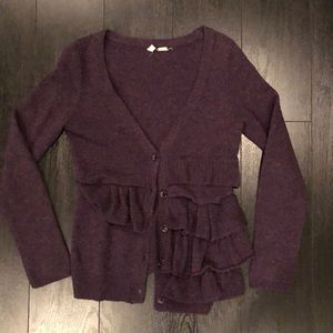 Anthro Moth Asymmetrical Cardigan